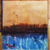 calm on the water, 2012; Archival inkjet print on Polypro paper; Image: 18 x 18 inches