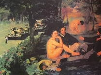 After Manet - Dejuner sur l'herbe, 2005; Screenprint; Image: 22 x 30 inches