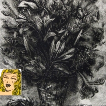 Big Girl Lie (Babe), 1993; Etching, collage; Image: 44 1/2 x 30 inches