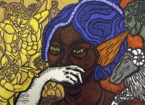 Bocca Bascita, Day two Story Seven, 2001; Woodcut; Image: 17 3/4 x 22 1/4 inches