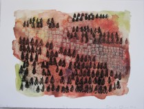 Big Burn, 2010; Digital print, photo lithograph; Image: 9 1/4 x 12 1/2 inches