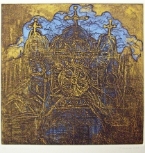 Coptic Church, from the Egypt Series, 1988; Etching; Image: 15 x 15 inches