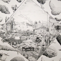 Down the Road A Piece, 1975; Lithograph; Image: 15 x 9 inches