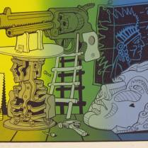 Fabrications of the Wild Wild West, 2003; Screenprint; Image: 15 x 20 1/2 inches