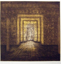 False Tomb Door, from the Egypt Series, 1988; Etching; Image: 13 x 15 inches