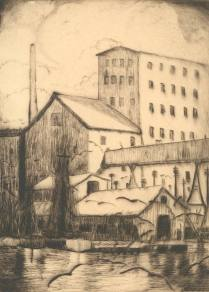 Galveston, nd.; Etching; Image: 9 x 6 3/4 inches
