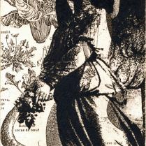 Garden, no date (circa 2000-05); Intaglio, solar plate, chine colle; Image: 15 x 11 1/4 inches