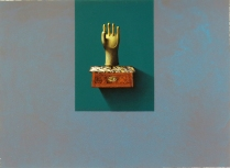 Homage to the Left-Handed Physician, Waving, 1992; Lithograph; Image: 9 x 12 1/4 inches