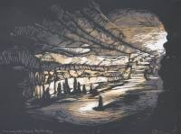 Mammoth Cave Kentucky, 2011; Screen print; Image: 11 1/4 x 14 3/4 inches