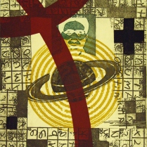 Mao's Orbit, 2007; Intaglio, relief; Image: 18 x 15 inches