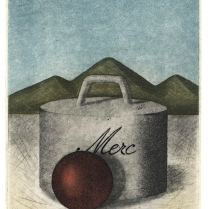 Merc, 1988; Etching, aquatint; Image: 10 x 8 1/2 inches