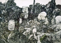 Mess In a Bottle, 1990; Monotype; Image: 20 3/4 x 29 3/4 inches