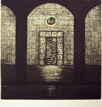 Mosque, from the Egypt Series, 1989; Etching; Image: 15 x 15 inches