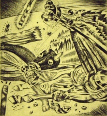 Race of Vices, 1997; Intaglio, drypoint; Image: 14 x 12 inches