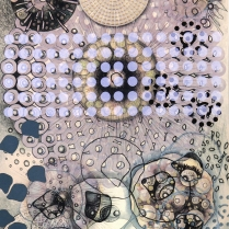 Radiolaria #1, 2007; Inkjet, screenprint, painting; Image: 20 x 13 inches