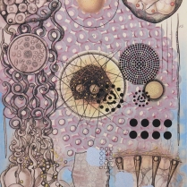Radiolaria #6, 2007; Inkjet, screenprint, painting; Image: 20 x 13 inches