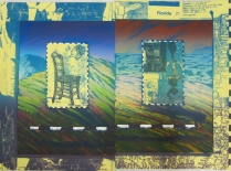 Rauschenberg vs. Van Gogh: Who Can Build a Better Chair?, 1998; Lithograph; Image: 15 x 20 inches