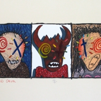 Red Devil, 1979; Lithograph; Image: 20 x 28 inches