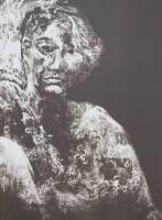 Self-portrait, 1996; Maniere noir lithograph; Image: 20 1/4 x 15 1/4 inches