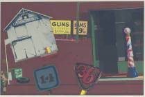 The 3rd Street- with a Bit of Mr. Hopper Too, 1975; Screen print; Image 9 1/2 x 18 inches