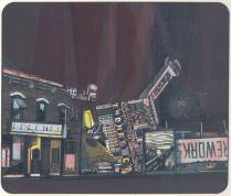 The Last Street, 1975; Screen print; Image: 9 1/2 x 18 inches
