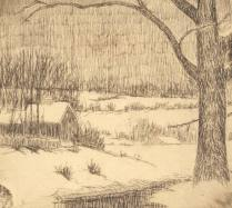 Tranquil, nd.; Etching; Image: 3 1/2 x 3 3/4 inches