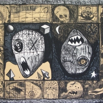 Travel Notes, 1978; Lithograph; Image: 22 1/2 x 31 inches