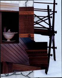 Tureen, 1997; Collage; Image:4 1/4 x 3 inches