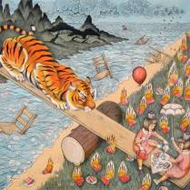 Tyger, Tyger Burning Bright, 2011; Lithograph; Image: 18 x 20 inches