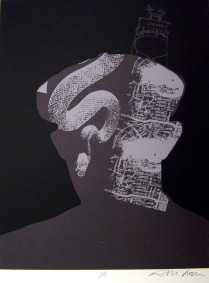 Untitled, 2002; Monoprint; Image: 22 x 15 inches