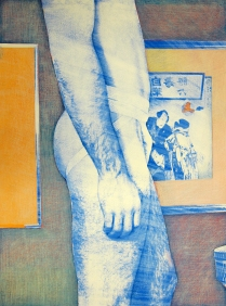 Young Wrestler #3, 1980; Photo emulsion monotype; Image: 30 x 22 inches