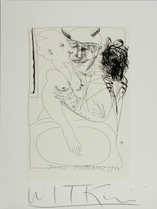"Joel Peter Witkin, 2006,  Mismatched Love From Bourgeoisie in De Nile Boxed Set, Etching, 18"" x 24"""