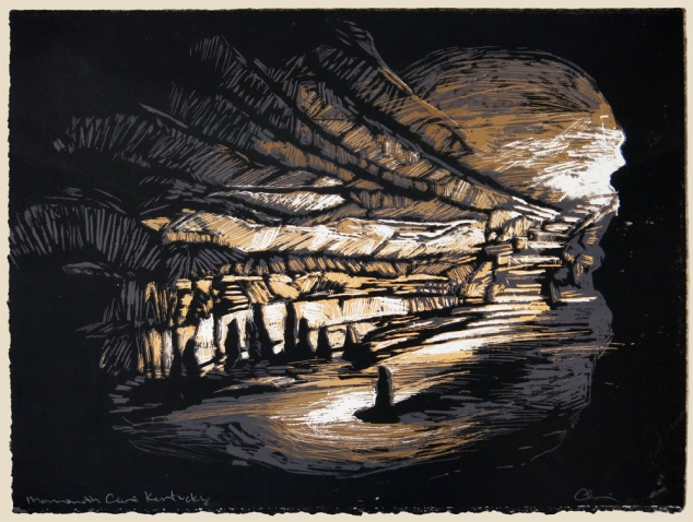 Catherine Chauvin Mammoth Cave, Kentucky, 2012 (four color screen print)