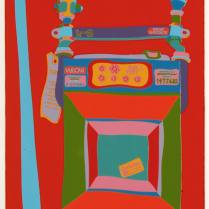 Clayton Pond, (1968), The Gas Meter in My Studio on Broome Street, screenprint, 23 x 16 1/2 inches