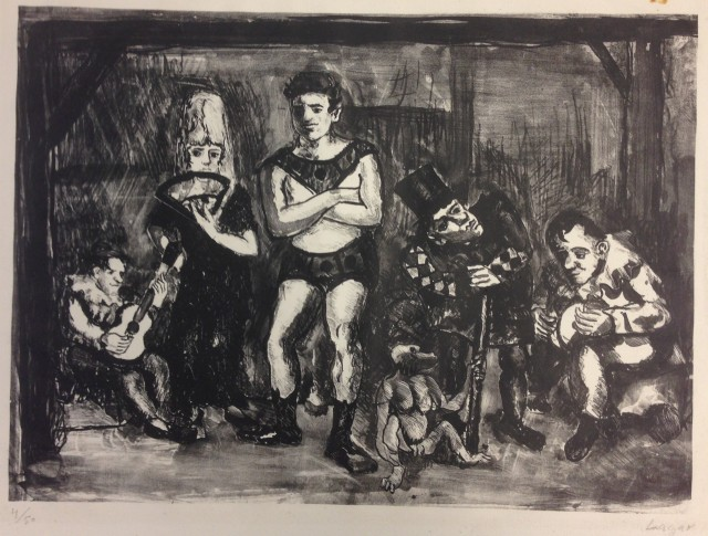 Celso Lagar (1891-1966) Jesters, between 1928 and 1955 Lithograph  11 x 14 1/4 inches