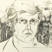 Evan Lindquist (born 1936); Document: Schema, 1976; Engraving; 8 1/4 x 21 inches