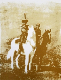 Betty Hahn; Untitled (The Lone Ranger), 1976; lithograph; 13 x 10 1/4 inches
