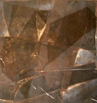 Carole Greer (born 1937); Untitled, circa 1976; Monoprint; collograph, viscosity, chine colle; 20 1/3 x 19 1/3 inches