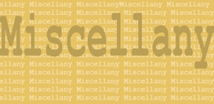 miscellany graphic