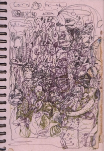 page from Robert Dale Anderson sketchbook; date unknown; size variable;