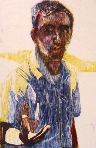 Joel Winkelmann, 2009; Woodcut; Image: 36 x 24 inches