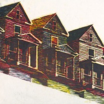 Repeating House, 1990; Relief; Image: 24x36 inches