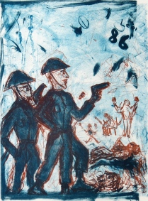 Remembering 1986, 1991; Lithograph; Image: 22 x 30 inches