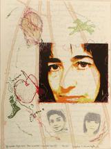 Y quien dijo que los sueños, sueños son?, 2010; Screenprint, thread drawing; Image: 22 x 30 inches