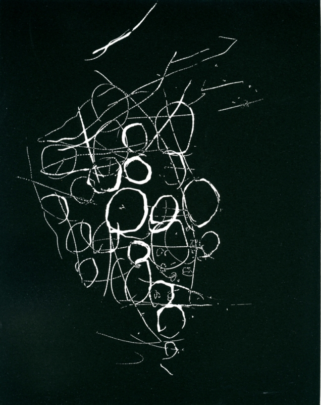 Nest, 1992; Relief etching; Image: 8 x 10 inches