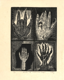 Eric Avery (born 1948); Hands of Celebrated Gougers, 1985; Wood engraving; Image: 8 x 6 inches