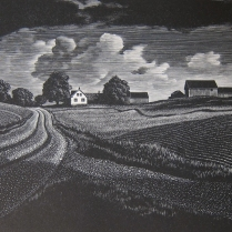 Asa Cheffetz (1896-1965); Midsummer Vermont, 1936; Wood engraving; Image: 5 x 6 1/4 inches