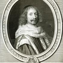 Robert Nanteuil (1623-1678); Pompone de Bellièvre, 1657; Engraving; Image: 12 1/2 x 9 3/4 inches