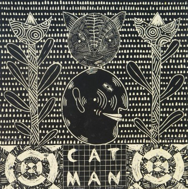 John Boyd (born 1939); Cat Man, 2003; linocut; image: 21 x 18 inches
