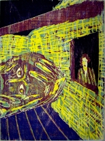 Michael de Cuellar; Upon a Nightmare, 1985; woodcut; image: 30 x 26 inches